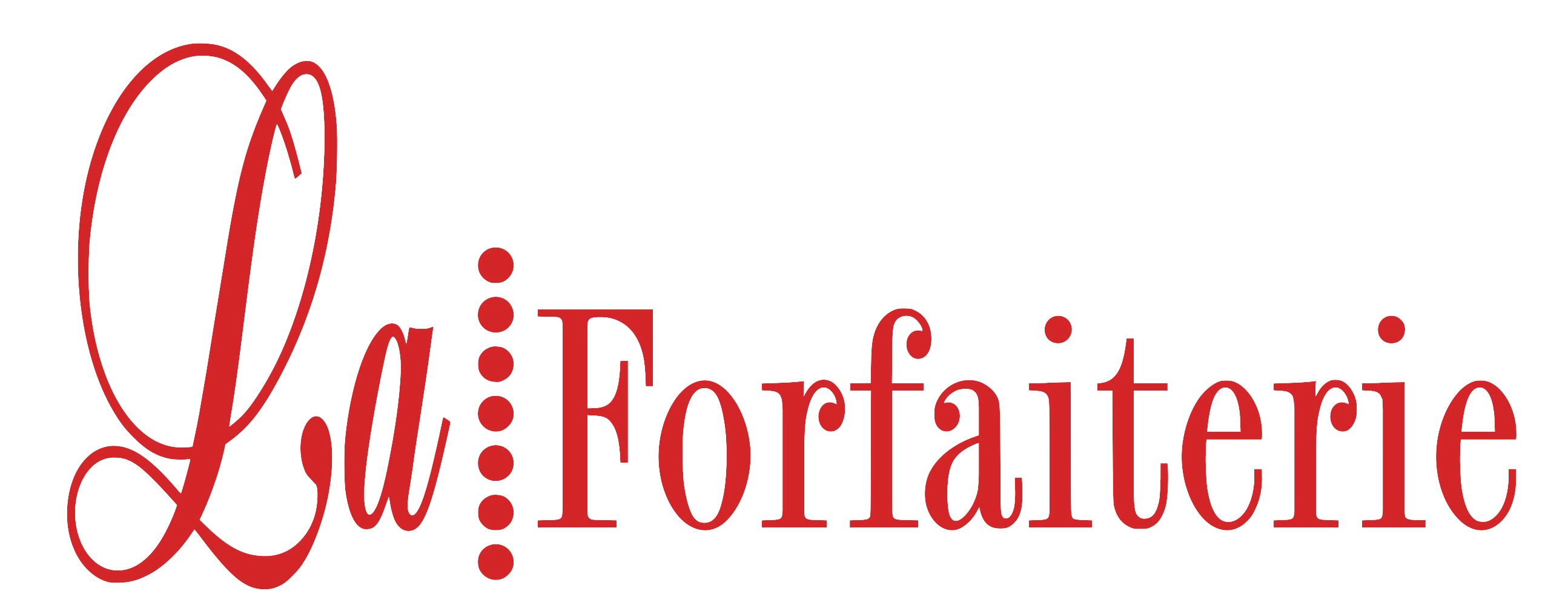 La Forfaiterie Logo Rouge Sans Fond