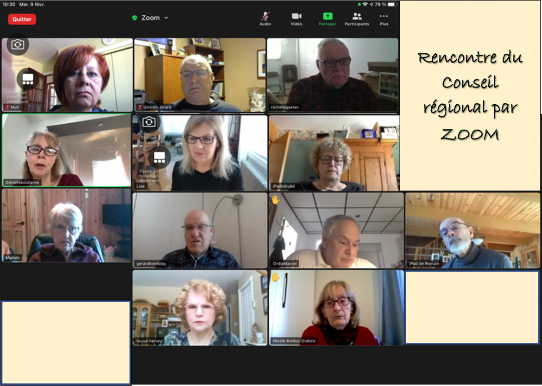 Rencontre Par Zoom Fevrier 2021